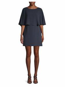 Jamey Short Cape-Sleeve Dress