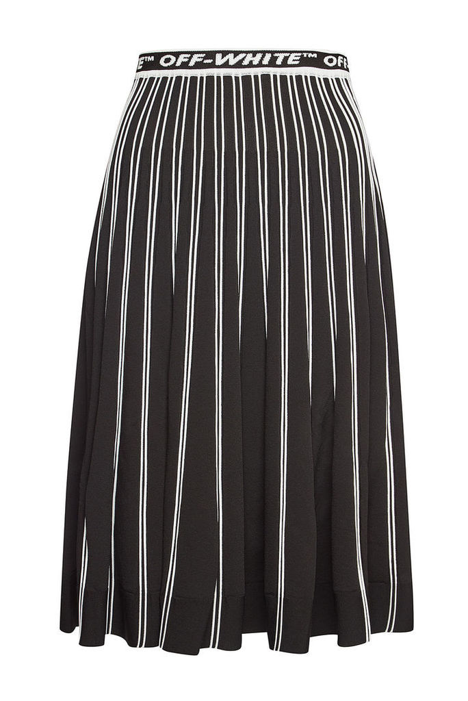 Off-White Knit Midi Skirt