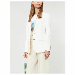 Single-breasted stretch-cotton blazer