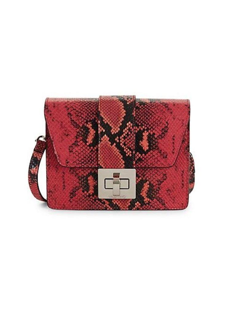 Benedicte Python Embossed Leather Crossbody Bag
