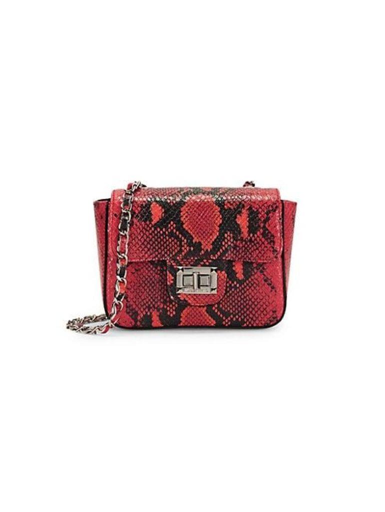 Vivian Python-Embossed Leather Mini Bag