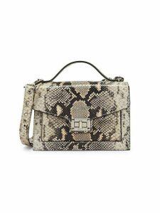 Titti Python-Embossed Crossbody Bag