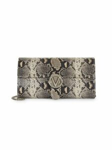 Mabelle Python-Embossed Clutch