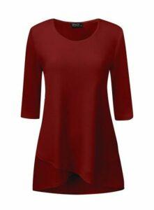 **Grace Red Tulip Hem Tunic, Red