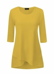 **Grace Yellow Tulip Hem Tunic, Yellow