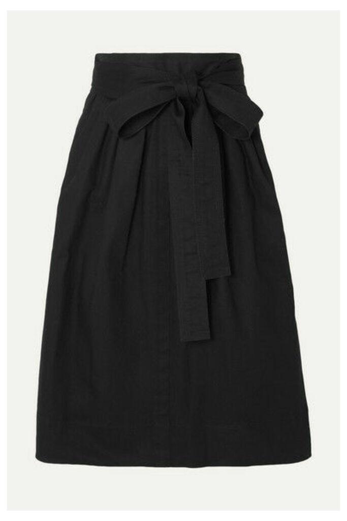 Marc Jacobs - Belted Denim Midi Skirt - Black