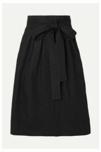Runway Marc Jacobs - Belted Denim Midi Skirt - Black