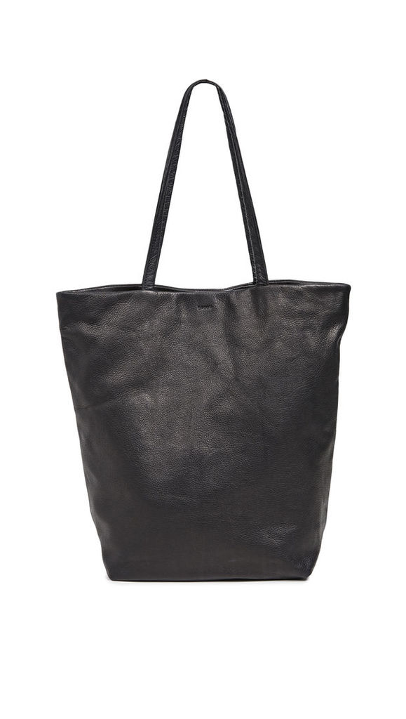 BAGGU Large Leather Tote