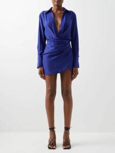 Araks - Uppsala Polka Dot Cotton Shirtdress - Womens - Black Multi