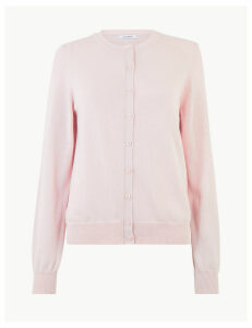 M&S Collection Pure Cotton Round Neck Cardigan