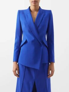 Junya Watanabe - Panelled Denim And Tulle Dress - Womens - Blue
