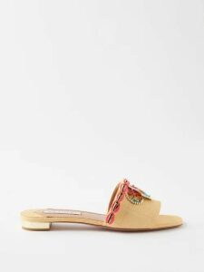Junya Watanabe - Patchwork Denim Trench Coat - Womens - Blue Multi