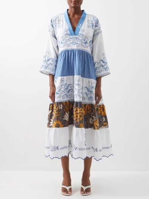 Erdem - Alfreda Polka Dot Jacquard Cotton Blend Blazer - Womens - Black White