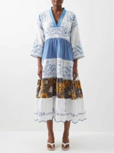 Erdem - Alfreda Polka Dot Jacquard Cotton Blend Blazer - Womens - Black White