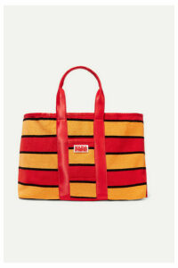 Solid & Striped - The Thea Reversible Shell And Striped Cotton-blend Terry Tote - Red