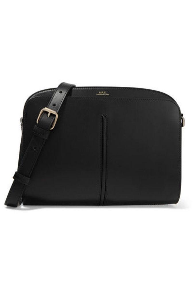 A.P.C. Atelier de Production et de Création - Aurelle Leather Shoulder Bag - Black