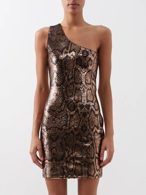 Valentino - V Ring Medium Leather Shoulder Bag - Womens - Burgundy
