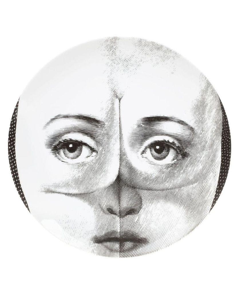 Fornasetti face print plate - White