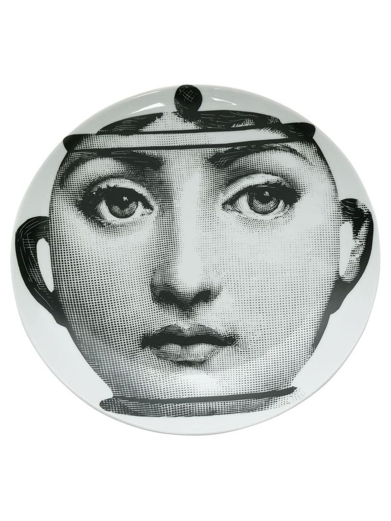 Fornasetti face pot print plate - White