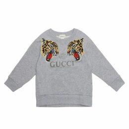 Gucci Leopard & Logo Sweatshirt