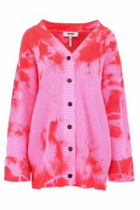 MSGM Embroidered Tie Dye Cardigan