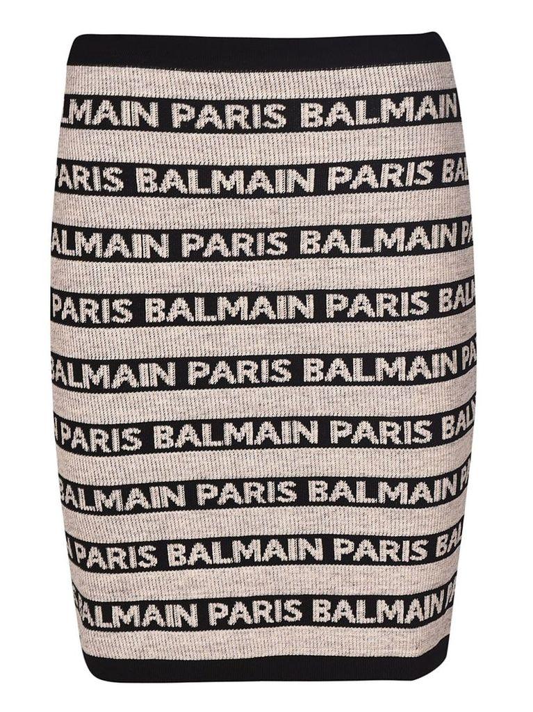 Balmain Logo Motif Skirt