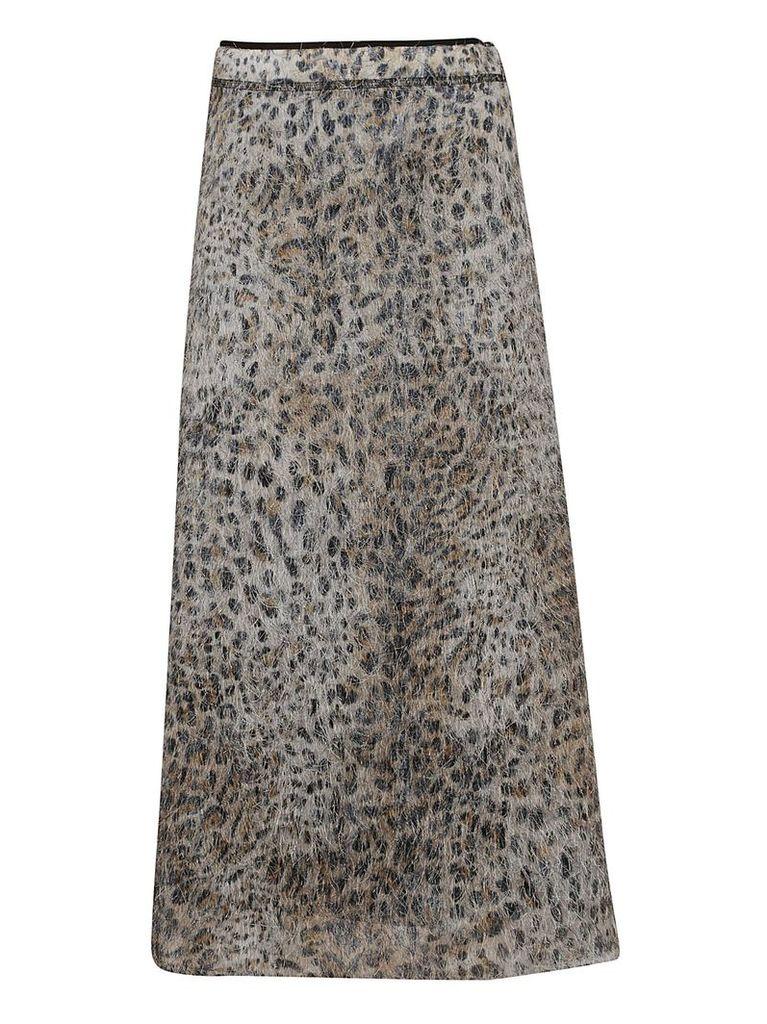 Mcq Alexander Mcqueen Leopard Skirt