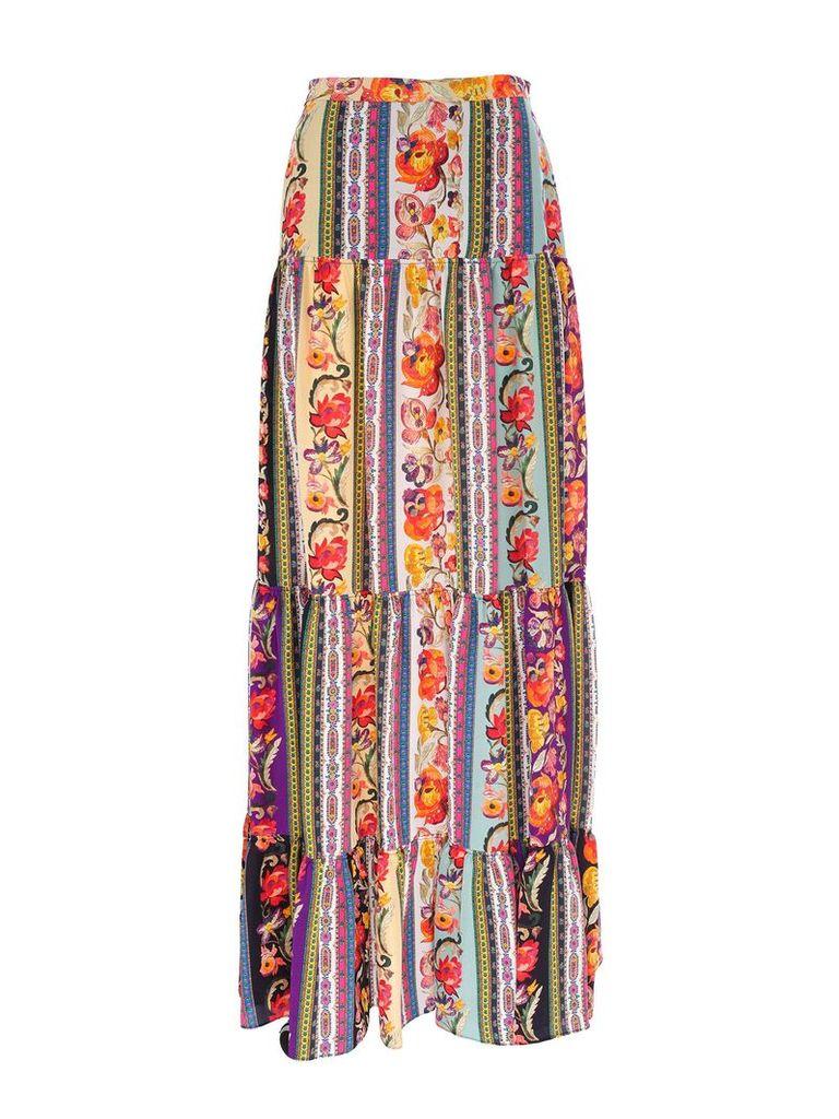 Etro maxi printed skirt