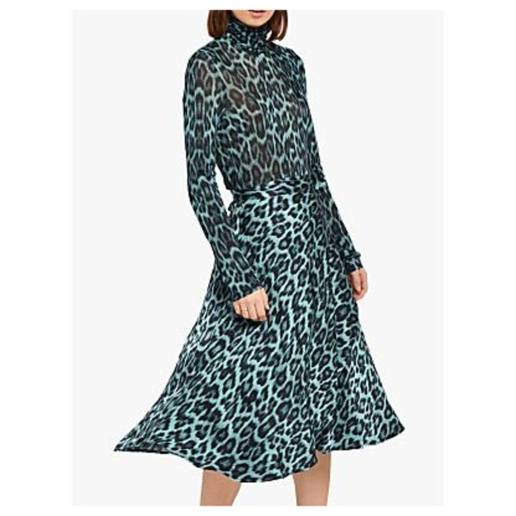 Ghost Jayne Skirt, Blue Leopard