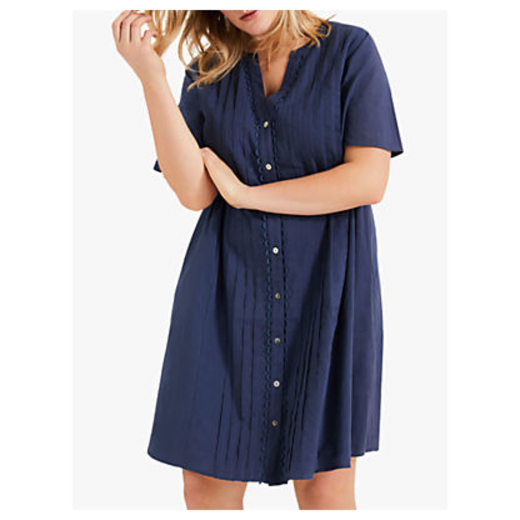 Studio 8 Margaret Buttoned Shirt Dress, Steel Blue