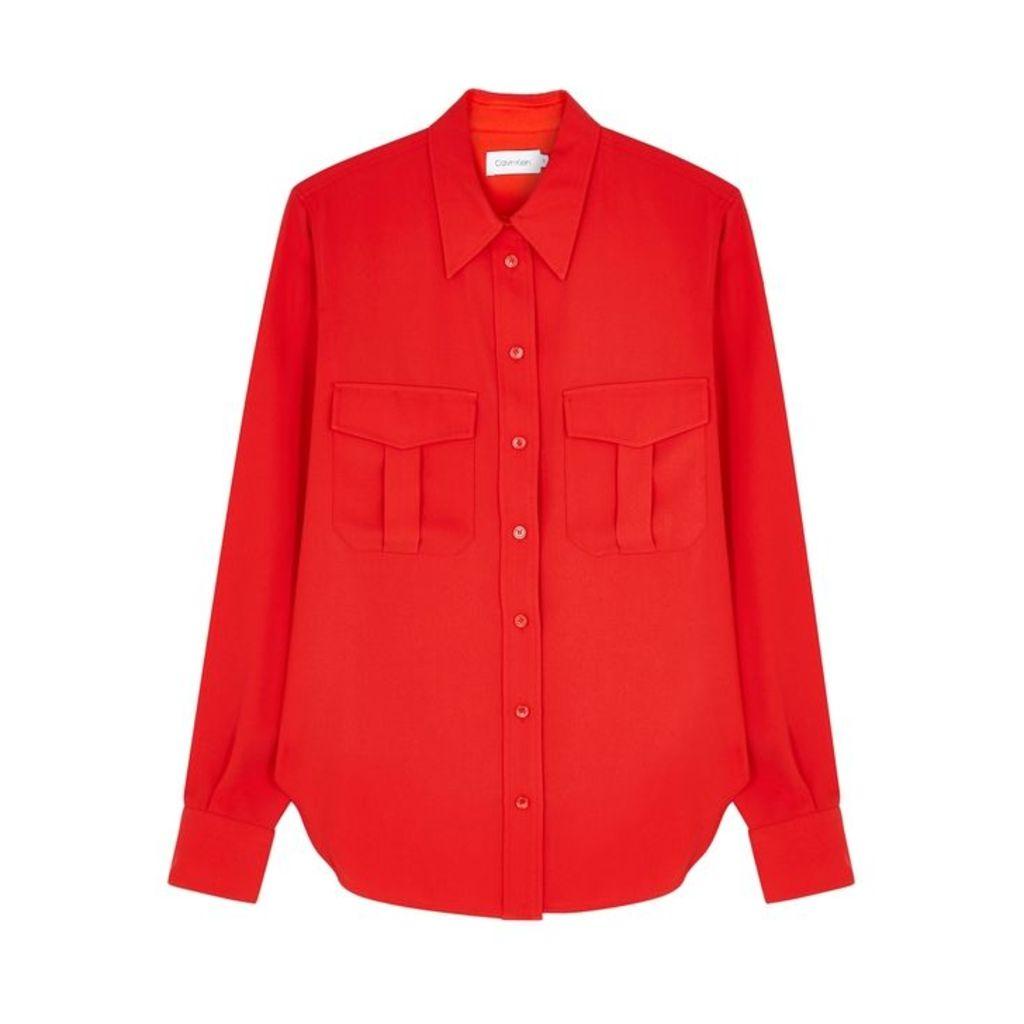 Calvin Klein Red Faille Shirt
