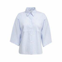 A-line Clothing - Short Stripe Shirt