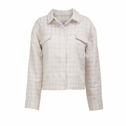 A-line Clothing - Brown Jacquard Jacket