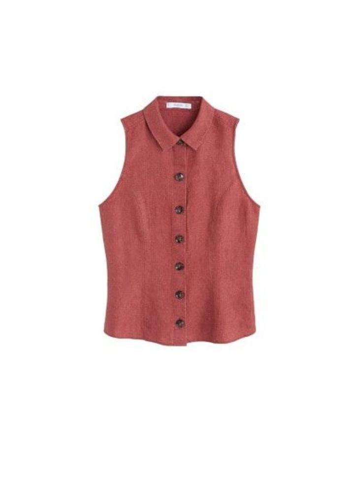 Button linen shirt