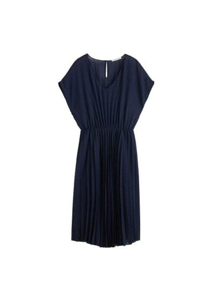 Plumeti pleated dress