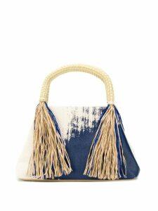 Issey Miyake tasseled tote - Blue