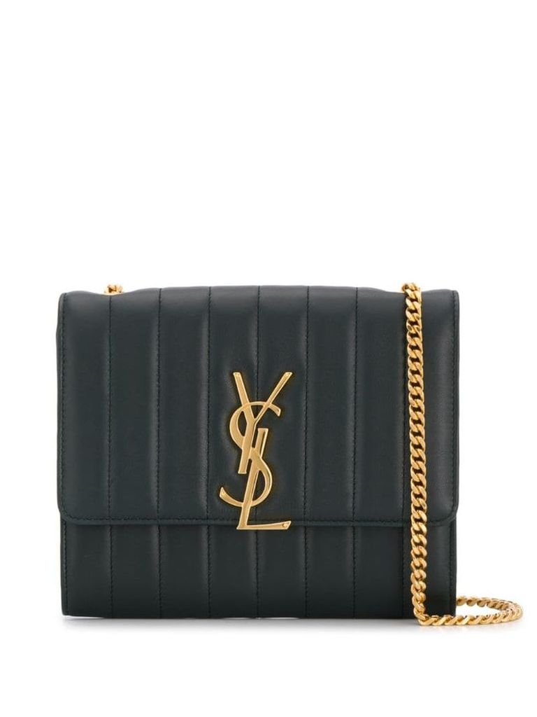 Saint Laurent Vicky quilted crossbody bag - Green