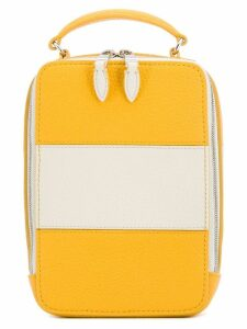 Sonia Rykiel striped crossbody box bag - Yellow