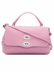 Zanellato flap closure tote - Pink