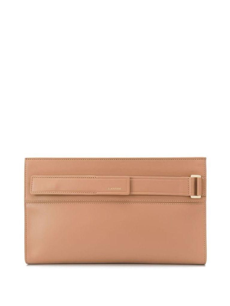 Lanvin Réglisse clutch bag - Neutrals