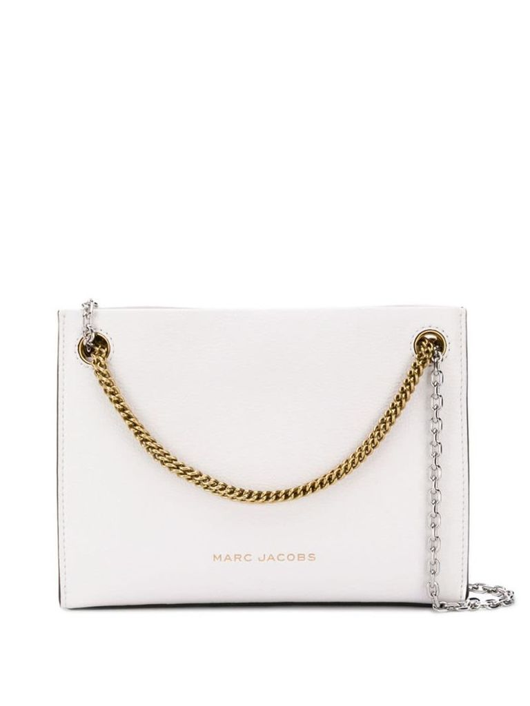 Marc Jacobs double chain crossbody bag - White