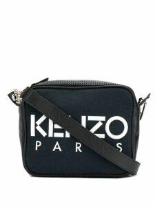 Kenzo logo printed crossbody bag - Black