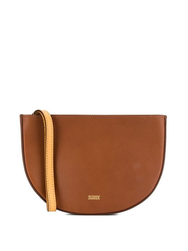 Closed half-moon clutch - Brown