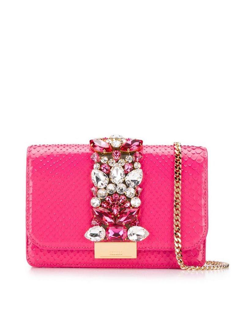 Gedebe cliky crystal shoulder bag - Pink