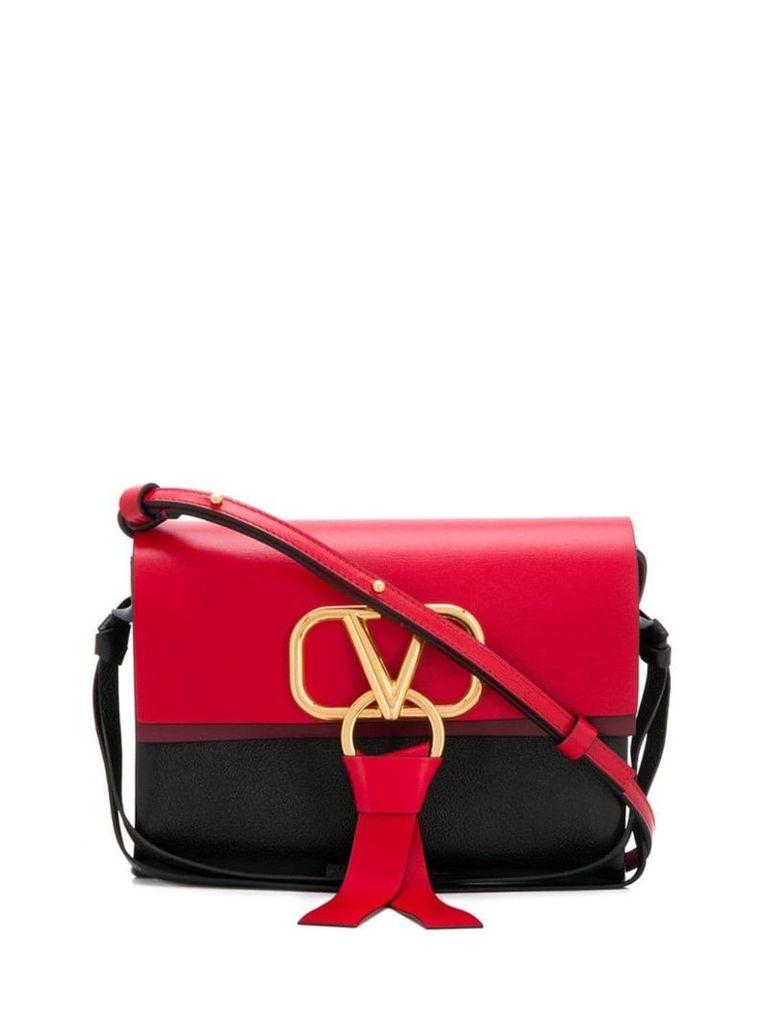 Valentino Valentino Garavani small v-ring shoulder bag - Black