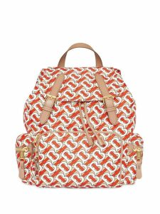 Burberry The Medium Rucksack in Monogram Print Nylon - Red