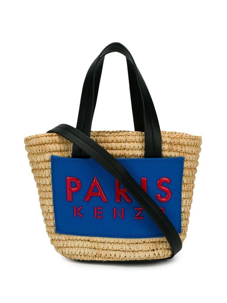 Kenzo mini logo tote bag - Neutrals