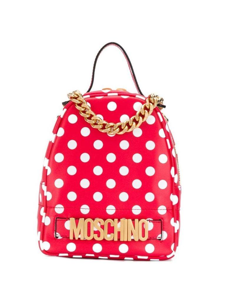 Moschino polka dots print backpack - Red