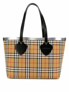 Burberry multicoloured giant reversible vintage check tote - A1189