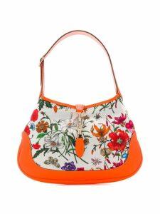 Gucci Jackie medium Flora hobo bag - White